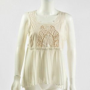 American Eagle Outfitters Top Ivory Sz M